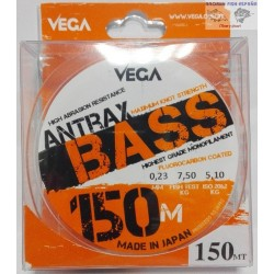 HILO VEGA ANTRAX BASS 150MT 0,23MM