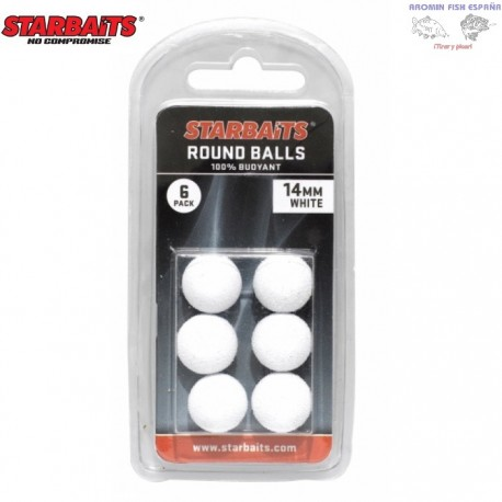 STARBAITS ROUND BALLS YELLOW 14MM